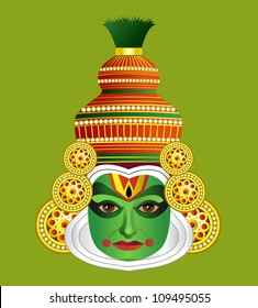 South Indian Traditional Kathakali Dancer Krishna