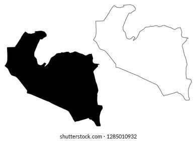 South Khorasan Province (Provinces of Iran, Islamic Republic of Iran, Persia) map vector illustration, scribble sketch South Khorasan map