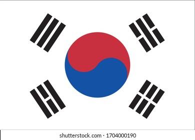 South Korea flag country national oriental