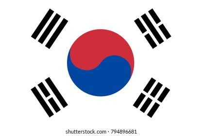 South Korea Flag,background,Vector flag