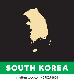south korea map minimalist with white color simple