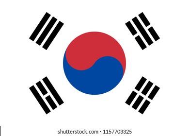 South Korea nation flag. Official colors. Correct proportion. Vector illustration