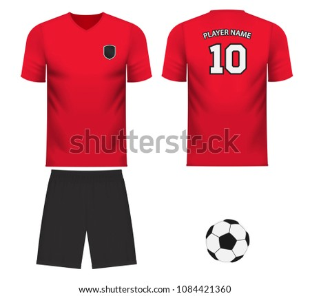 2bc737693 South Korea national soccer team shirt in generic country colors for fan  apparel. - Vector