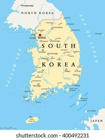 North Korea South Korea Map Stock Vectors, Images & Vector ...