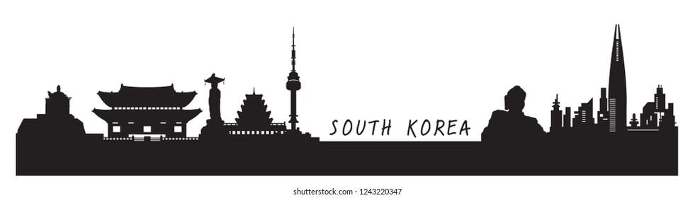 South Korea ,travel vector