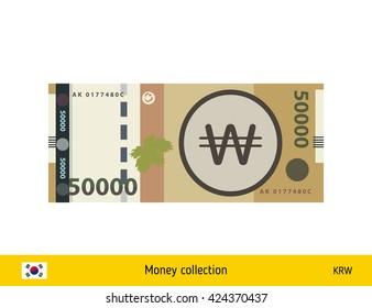 South Korean won. South Korean won banknote