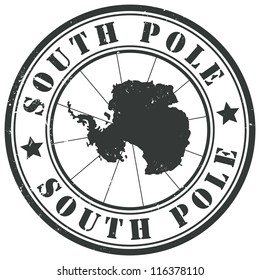 South Pole stamp