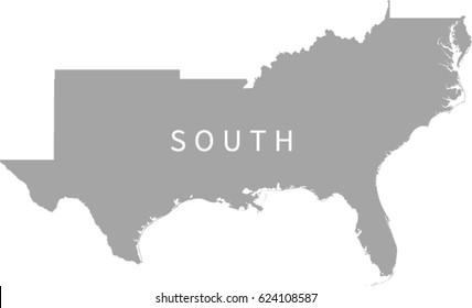 South Region US Map