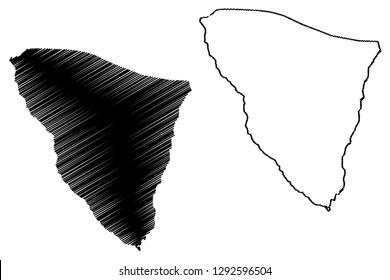 South Sinai Governorate (Governorates of Egypt, Arab Republic of Egypt) map vector illustration, scribble sketch South Sinai map