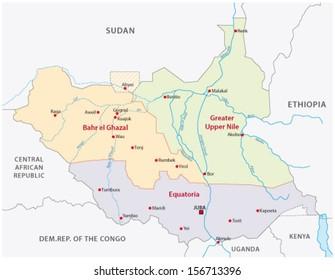 South Sudan Map Images, Stock Photos & Vectors | Shutterstock