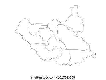 South Sudan Region Map Images Stock Photos Vectors Shutterstock