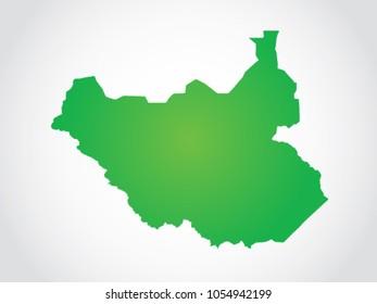 South Sudan Map Territory