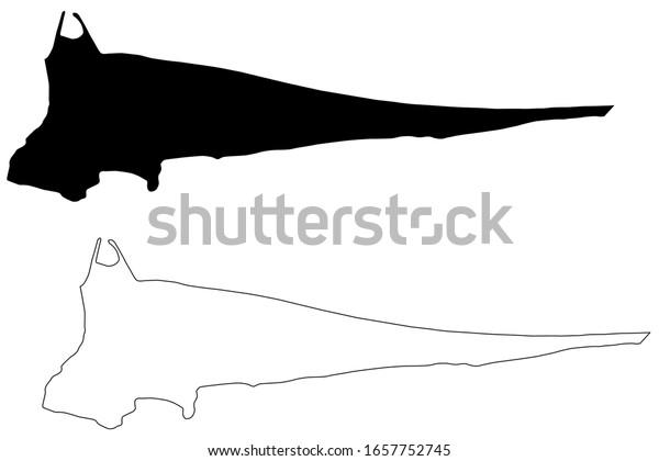 South Tarawa City (Republic of Kiribati) map vector illustration, scribble sketch City of South Tarawa map