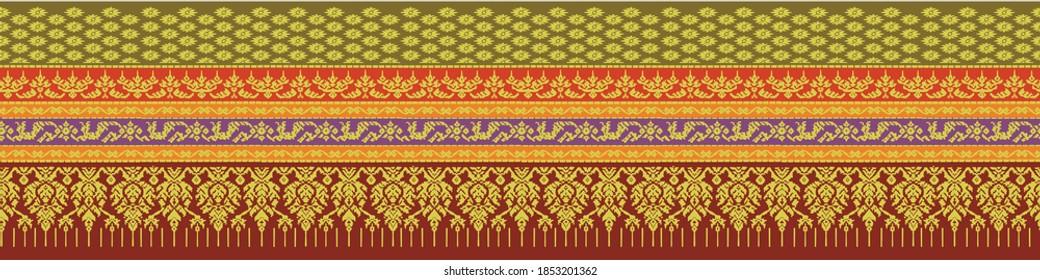 South Thai Fabric Silk Pattern