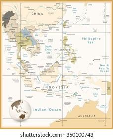 Map Of Asia Indonesia.Map Asia Australia Indonesia Images Stock Photos Vectors