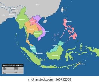 Südostasiatische Karte