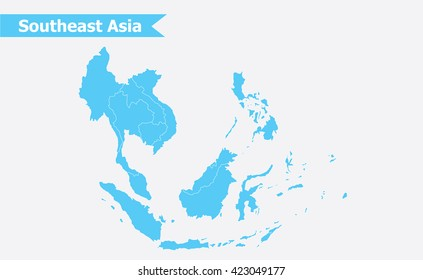 South East Asia On Map Images, Stock Photos & Vectors ...