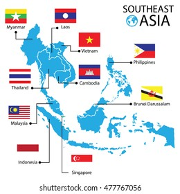 A Map Of East Asia.Southeast Asia Map Images Stock Photos Vectors Shutterstock