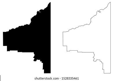 Southeast Fairbanks Census Area, Alaska (United States of America,USA, U.S., US) map vector illustration,