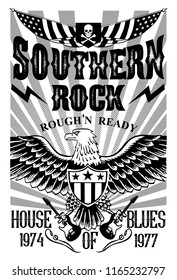 Southern Rock Music Poster