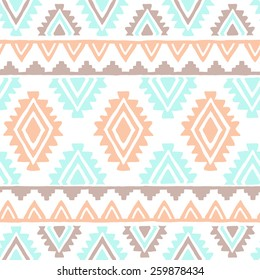 Southwest inspired vector seamless pattern