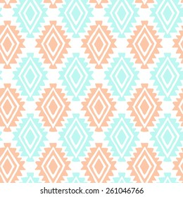 Southwest inspired vector seamless pattern