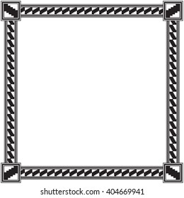 Southwestern American Indian Patterned Style Frame Border