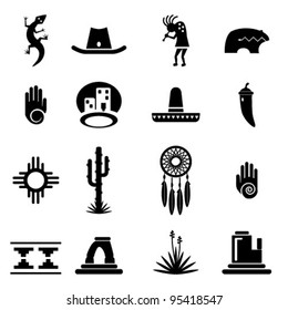Southwestern Icons Set