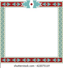 Southwestern Native American Indian Style Border Frame