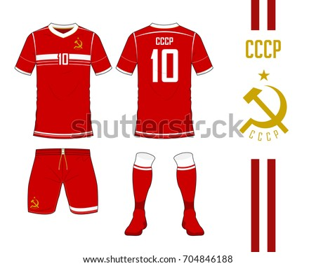 1b5980eab58 Soviet Union football national team in Euro Championship concept.Soccer  jersey or football kit template