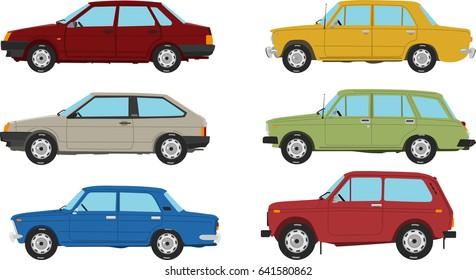 Soviet Union Retro Cars Set