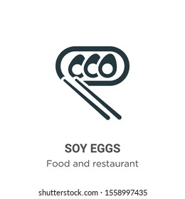 Soy eggs vector icon on white background. Flat vector soy eggs icon symbol sign from modern food and restaurant collection for mobile concept and web apps design.