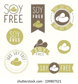 Soy free hand drawn labels