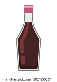 Soy sauce on white background, vector illustration