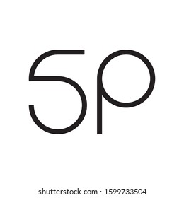 SP initial letter logo template vector icon design