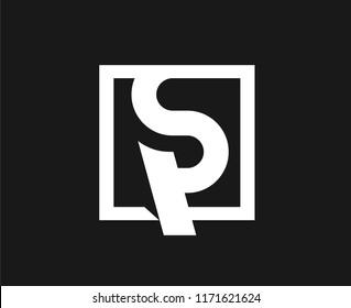 sp letter logo. ps letter logo.