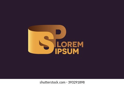 SP letters logo, S and P letters logo alphabet design.