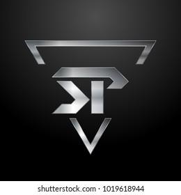 SP Logo, Metal Logo, Silver Logo, Monogram, Polygon