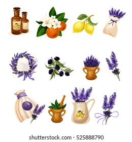 SPA and Aromatherapy Provance style vector set