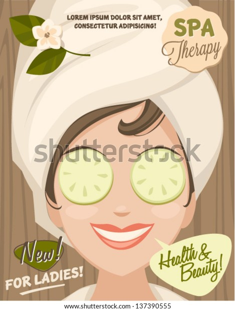Spa Banner Stock Vector Royalty Free 137390555