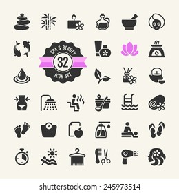 Spa & Beauty - vector Icons set