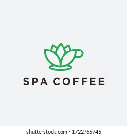 spa cup logo / coffee icon