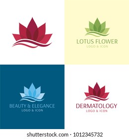 Spa, Dermatology, Yoga & Beauty Logo and Icon