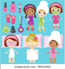 Spa elements for kids spa party