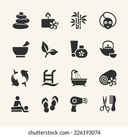 Spa icons collection, stock vector