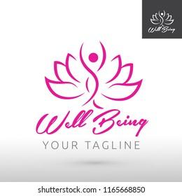 Spa, Lotus flower, artistic icon design