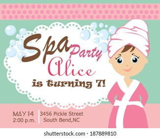 Spa party card