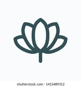 Spa relax isolated icon, lotos flower linear vector icon