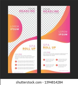 Spa Roll up banner template for advertisement