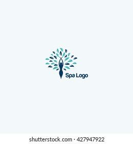 Spa and Salon logo. Beautiful, Fashion and Floral Logo.